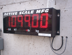 Truck Scale secondary display