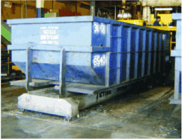 Roll off bin scale